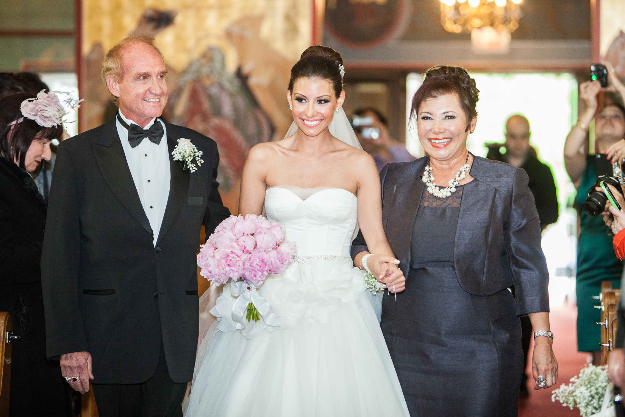 Aileen and Her Parents Walking Down The Aisle