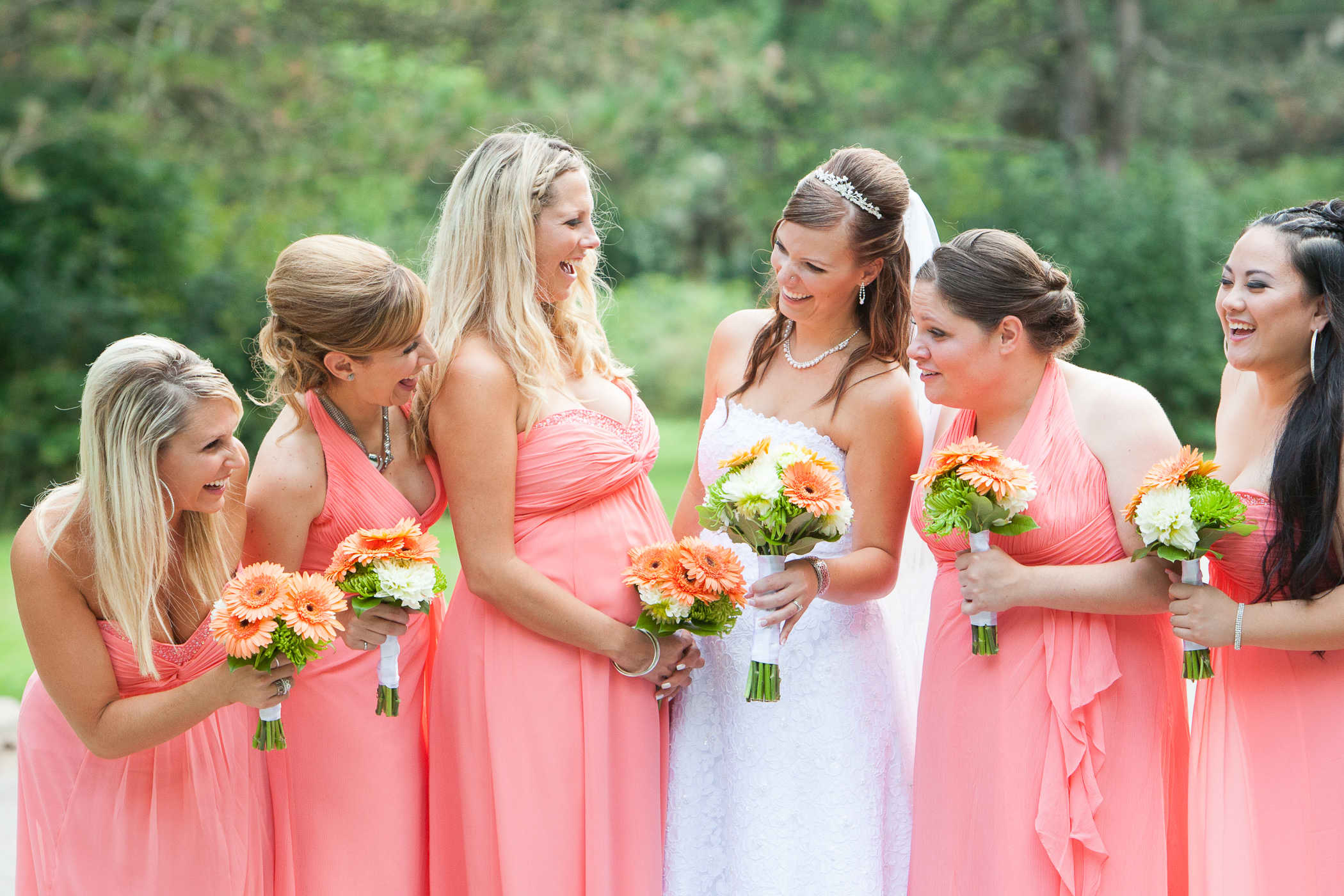 Harmony and Bridesmaids Laughing